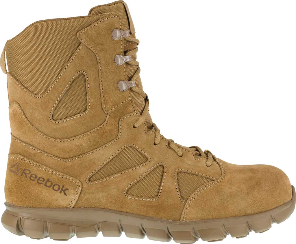 Men's Reebok Work Duty Sublite Cushion Tactical Boot RB8809, Coyote Cattle Hide Leather/Ballistic Nylon, large, image 2