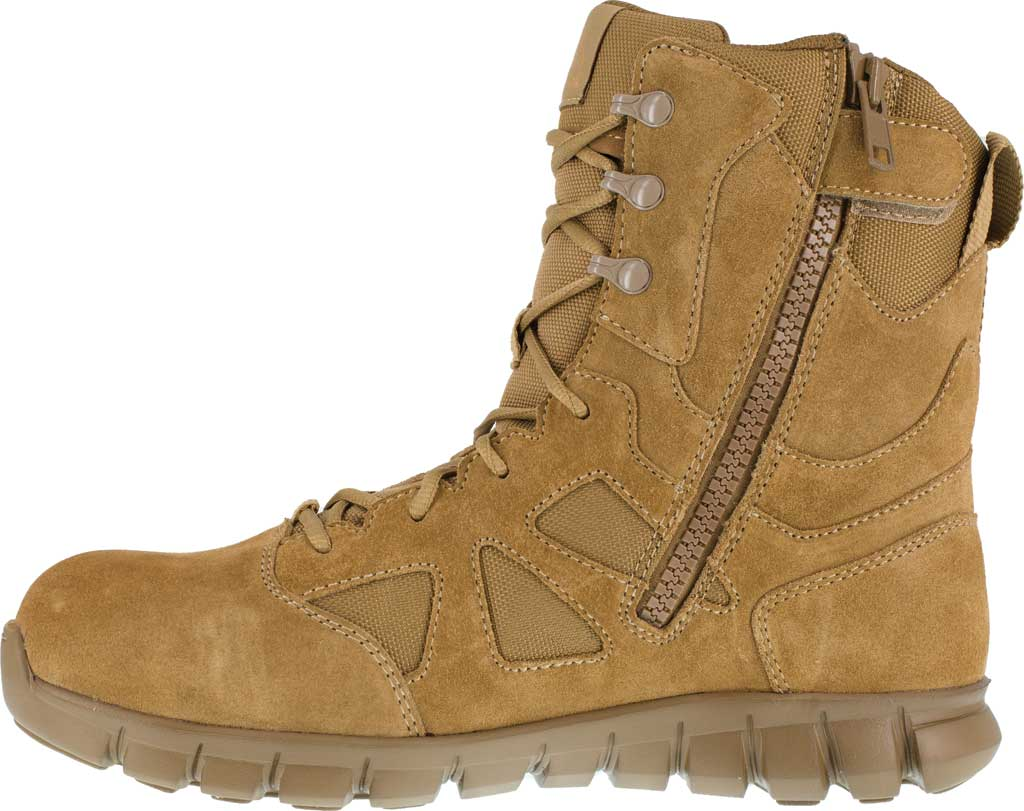 Men's Reebok Work Duty Sublite Cushion Tactical Boot RB8809, Coyote Cattle Hide Leather/Ballistic Nylon, large, image 3