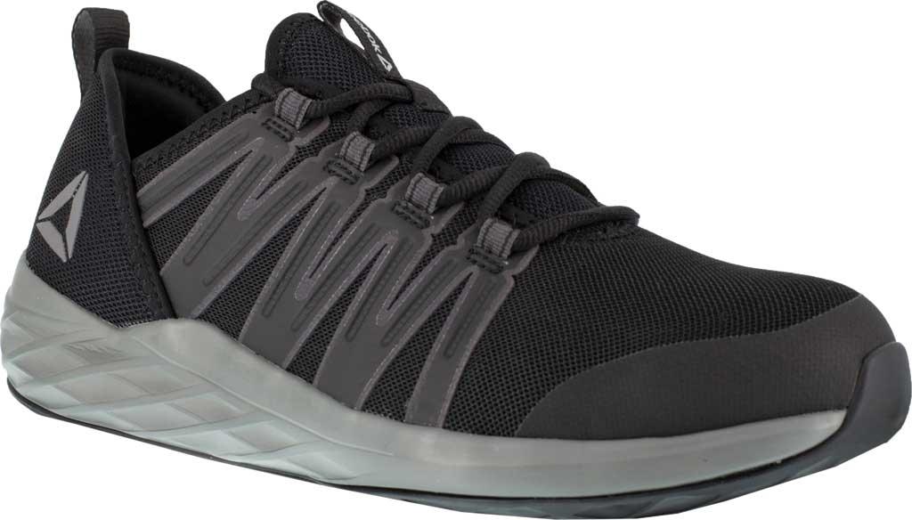 Men's Reebok Work Astroride Work RB2211 Steel Toe Work Shoe, Black/Dark Grey Stretch Mesh, large, image 1