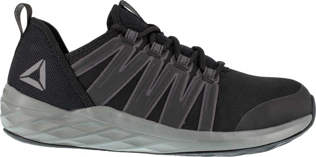 Men's Reebok Work Astroride Work RB2211 Steel Toe Work Shoe, Black/Dark Grey Stretch Mesh, large, image 2