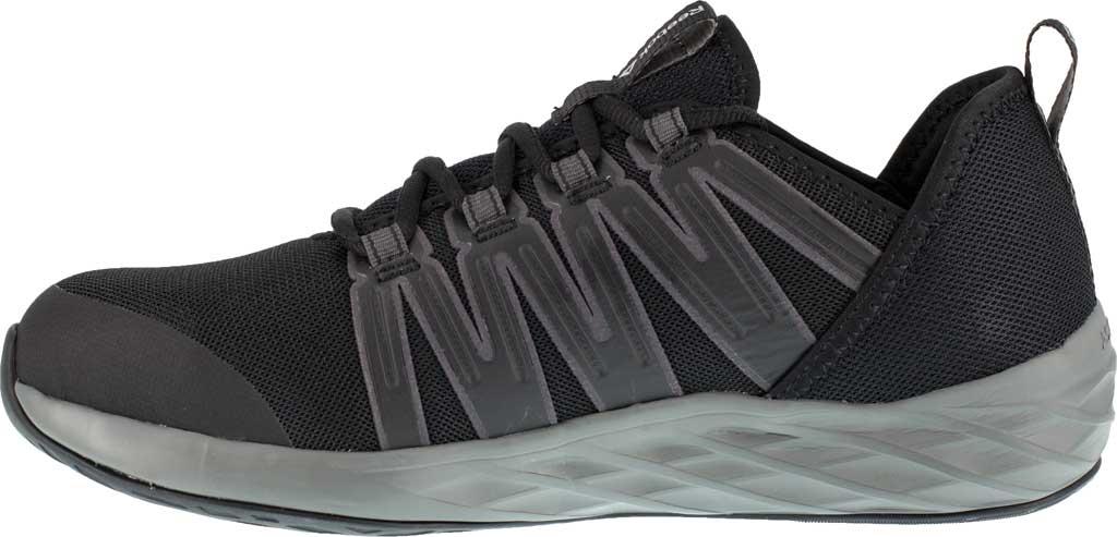 Men's Reebok Work Astroride Work RB2211 Steel Toe Work Shoe, Black/Dark Grey Stretch Mesh, large, image 3