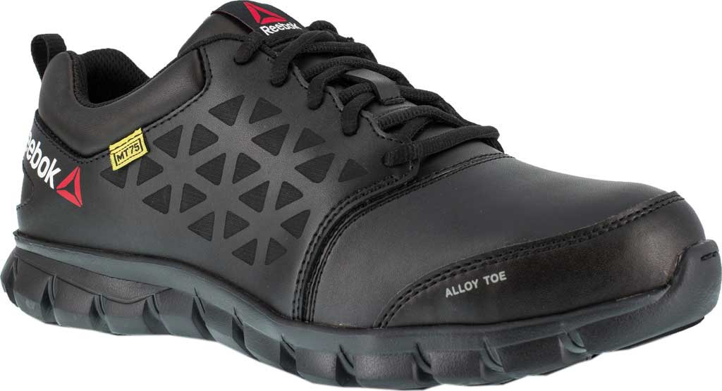 Men's Reebok Work Sublite Cushion Work RB4046 Work Shoe, Black Leather, large, image 1