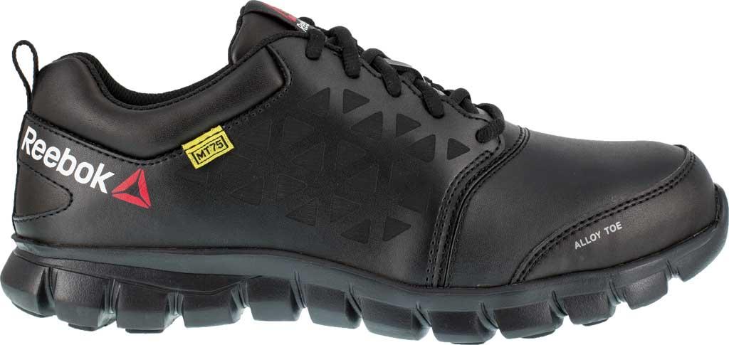 Men's Reebok Work Sublite Cushion Work RB4046 Work Shoe, Black Leather, large, image 2