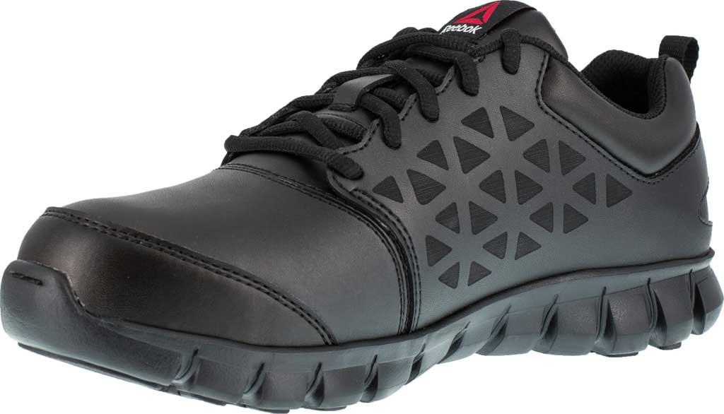 Men's Reebok Work Sublite Cushion Work RB4046 Work Shoe, Black Leather, large, image 3