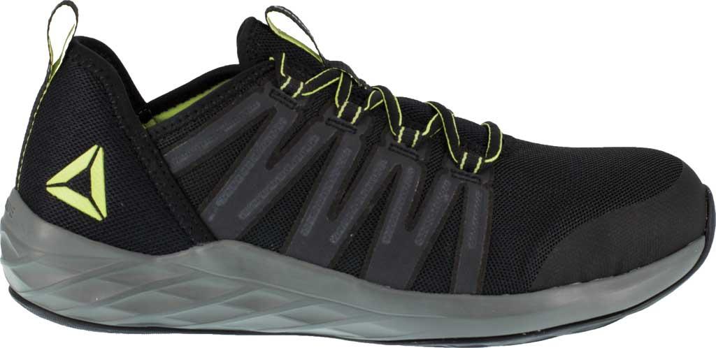 Men's Reebok Work Astroride Work RB2214 Steel Toe Work Shoe, Black/Neon Green Stretch Mesh, large, image 2