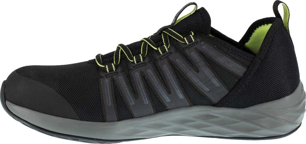 Men's Reebok Work Astroride Work RB2214 Steel Toe Work Shoe, Black/Neon Green Stretch Mesh, large, image 3
