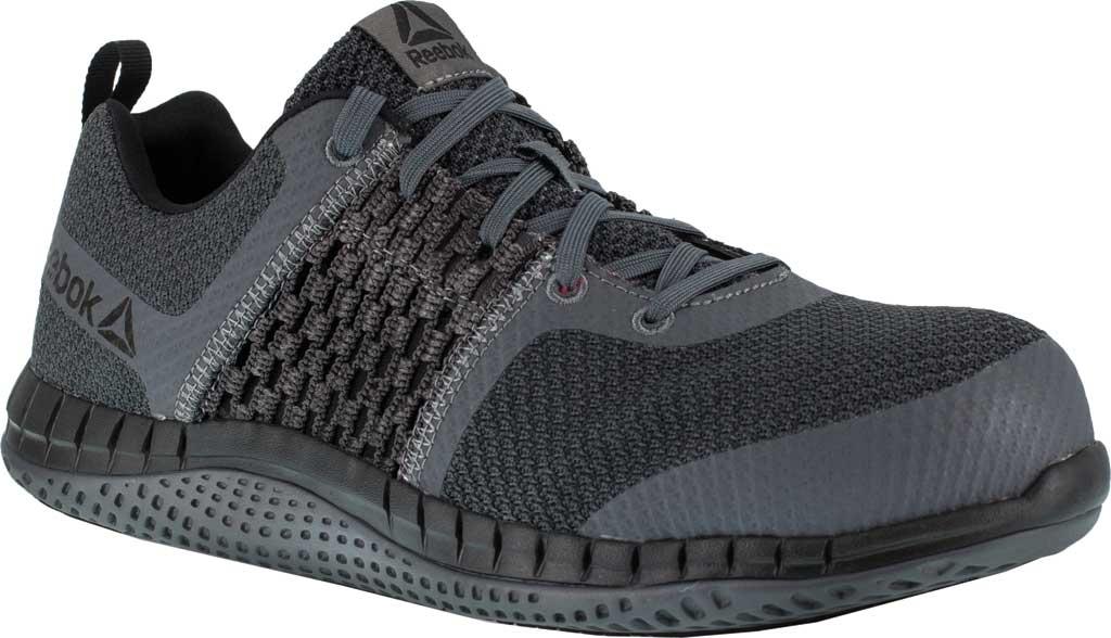 Men's Reebok Work Print Work ULTK RB4248 Composite Toe Shoe, Coal Grey/Black Synthetic, large, image 1