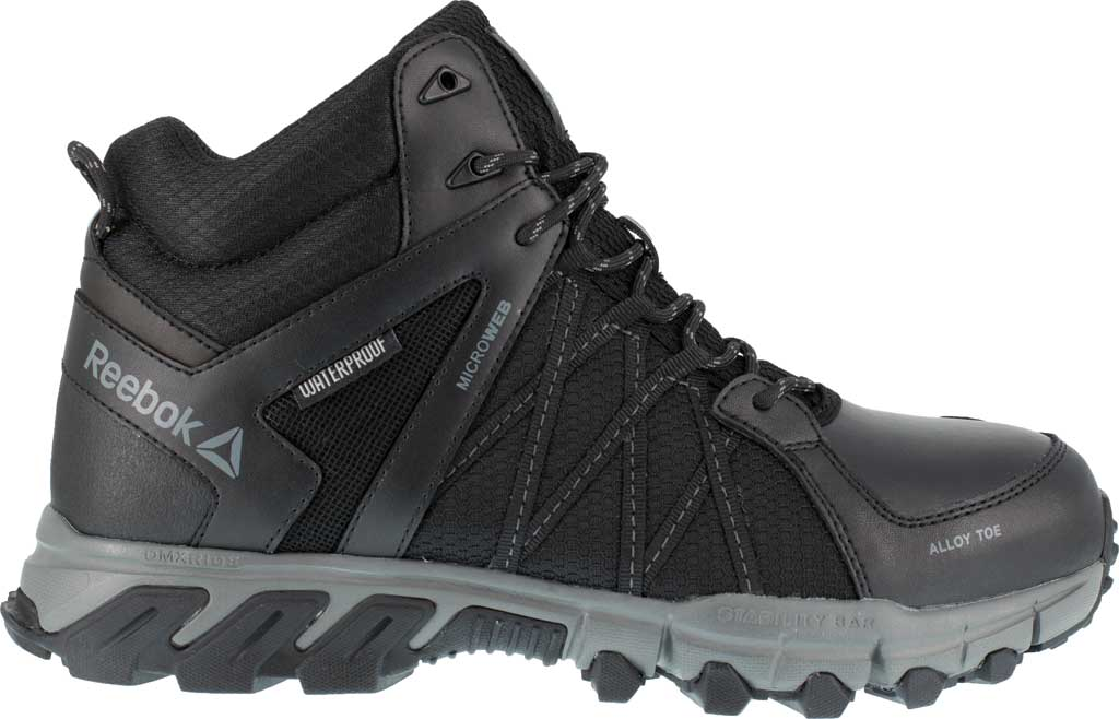 Men's Reebok Work Trailgrip Work RB3401 Alloy/Met Guard Toe Boot, Black/Grey Synthetic, large, image 2