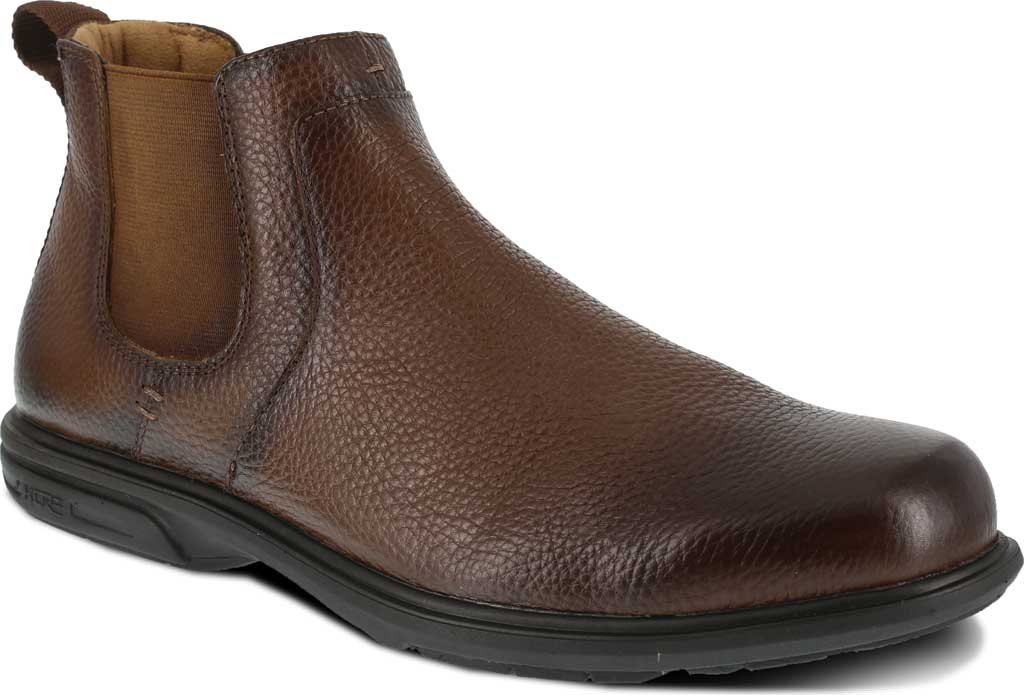 Men's Florsheim Work FS2031 Loedin Steel Toe Chelsea Boot, Brown Leather, large, image 1