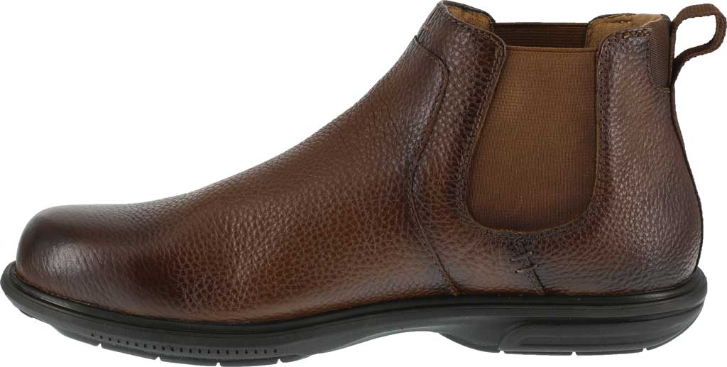 Men's Florsheim Work FS2031 Loedin Steel Toe Chelsea Boot, Brown Leather, large, image 3