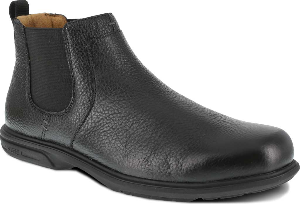 Men's Florsheim Work FS2030 Loedin Steel Toe Chelsea Boot, Black Leather, large, image 1