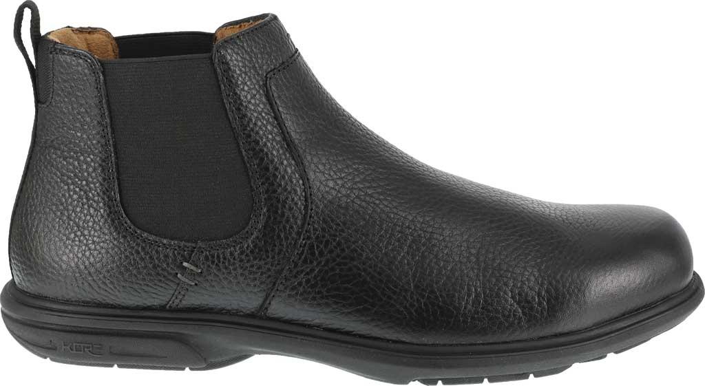 Men's Florsheim Work FS2030 Loedin Steel Toe Chelsea Boot, Black Leather, large, image 2