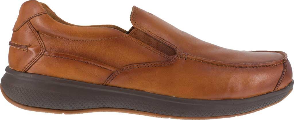 Men's Florsheim Work FS2325 Bayside Steel Toe Slip-On, Cognac Leather, large, image 2