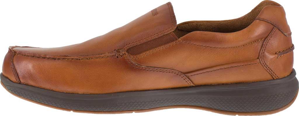 Men's Florsheim Work FS2325 Bayside Steel Toe Slip-On, Cognac Leather, large, image 3