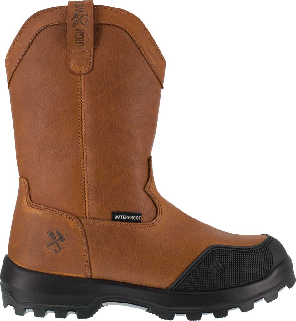 Men's Iron Age Immortalizer IA0190 WP Comp Toe Wellington Boot, Brown, large, image 2