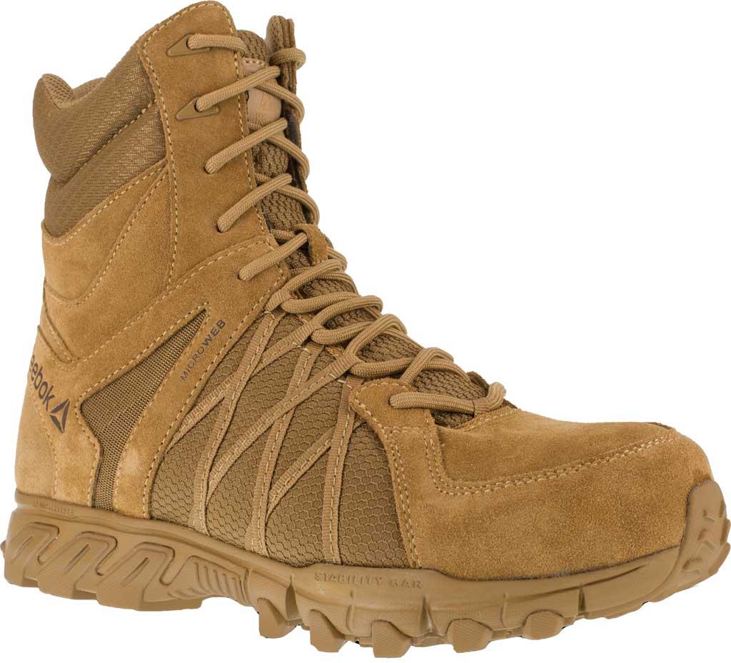 Men's Reebok Work Trailgrip Tactical RB3460 Comp Toe Side Zip Boot, Coyote, large, image 1