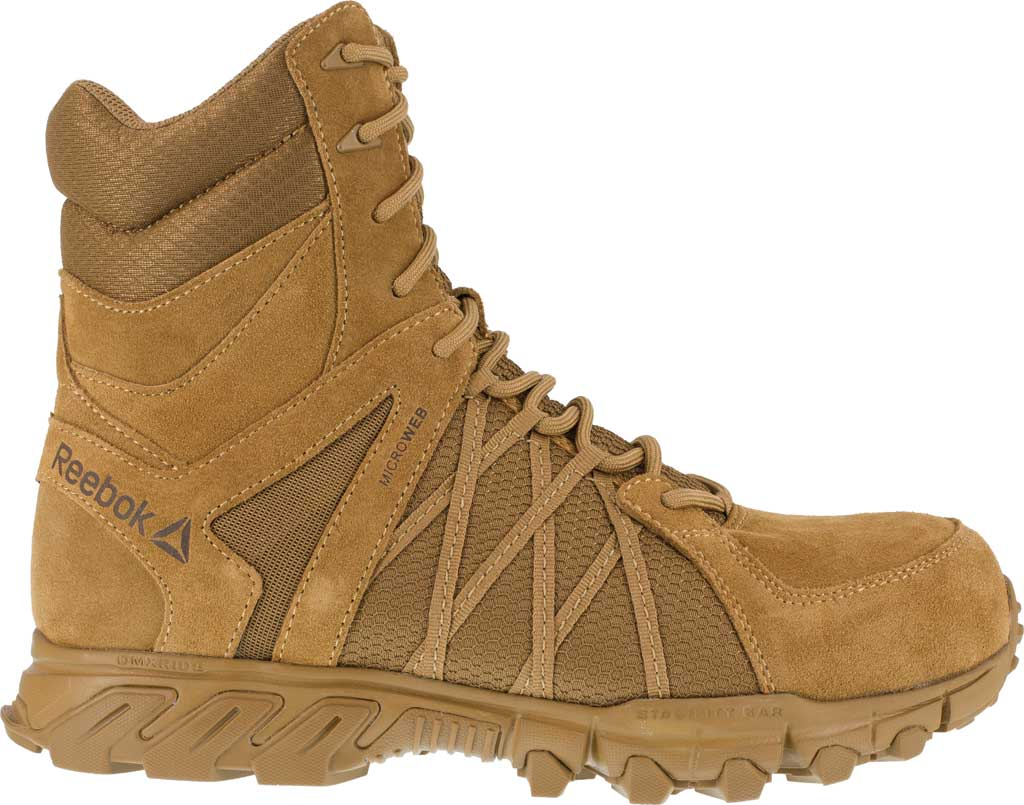 Men's Reebok Work Trailgrip Tactical RB3460 Comp Toe Side Zip Boot, Coyote, large, image 2