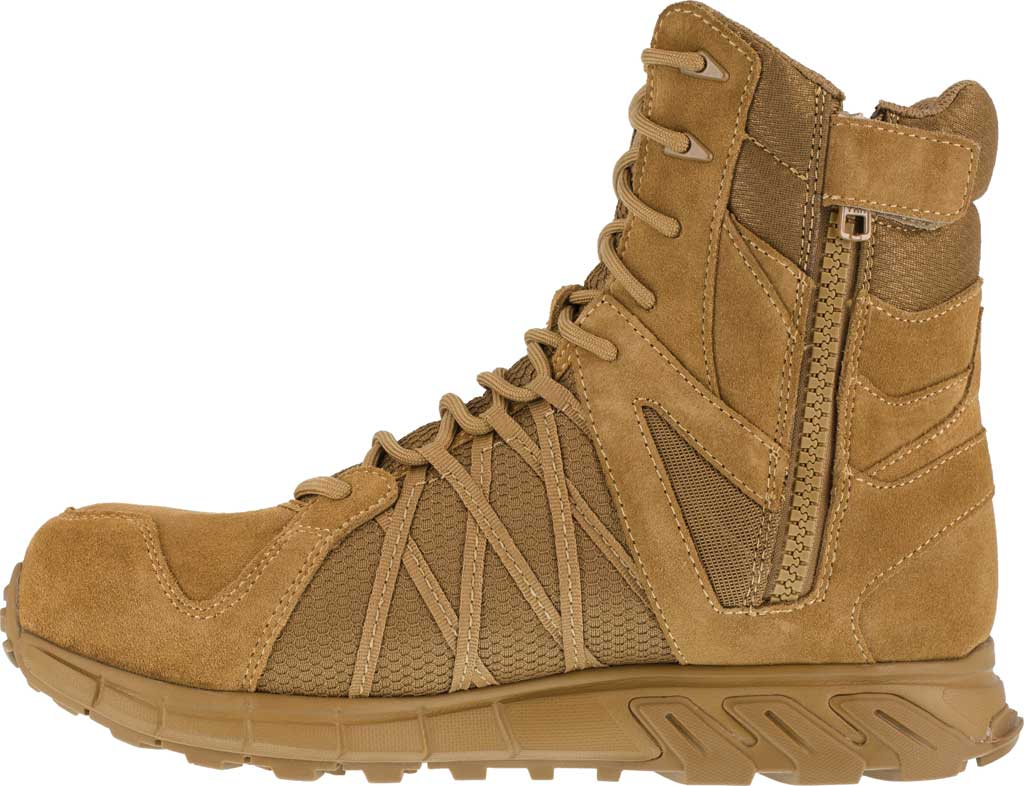 Men's Reebok Work Trailgrip Tactical RB3460 Comp Toe Side Zip Boot, Coyote, large, image 3