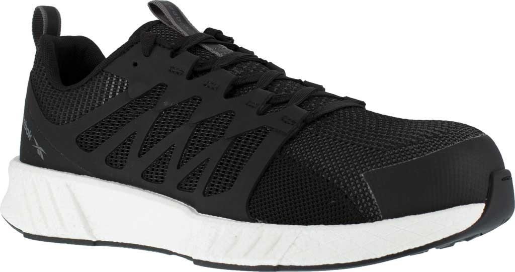 Men's Reebok Work Fusion Flexweave Work RB4311 Comp Toe Sneaker, Black Knit, large, image 1