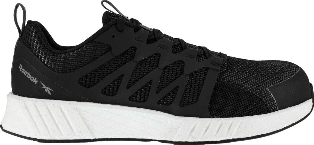 Men's Reebok Work Fusion Flexweave Work RB4311 Comp Toe Sneaker, Black Knit, large, image 2