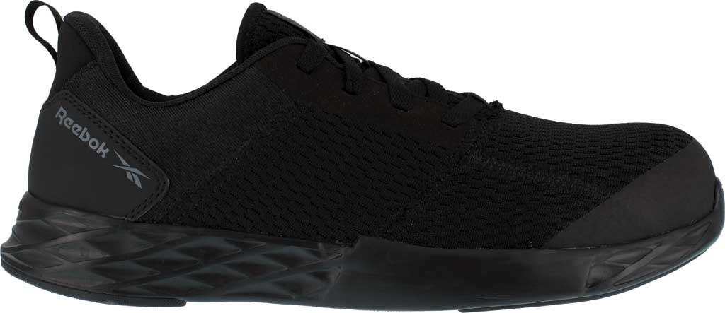 Men's Reebok Work Astroride Strike Work RB4672 Comp Toe Sneaker, Black Mesh, large, image 2