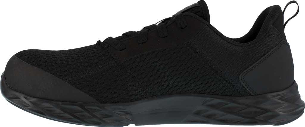 Men's Reebok Work Astroride Strike Work RB4672 Comp Toe Sneaker, Black Mesh, large, image 3