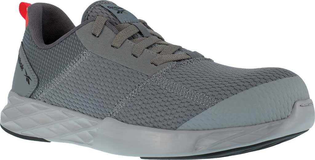 Men's Reebok Work Astroride Strike Work RB4671 Comp Toe Sneaker, Grey Mesh, large, image 1