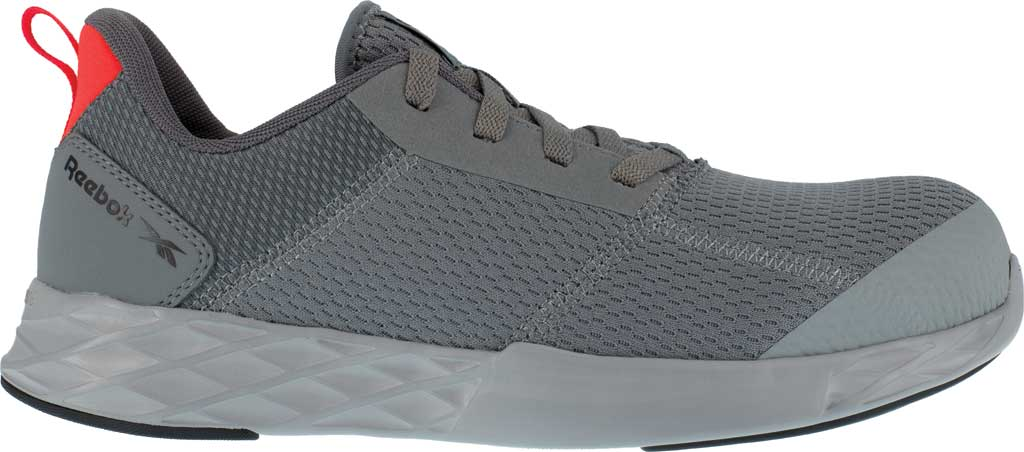 Men's Reebok Work Astroride Strike Work RB4671 Comp Toe Sneaker, Grey Mesh, large, image 2