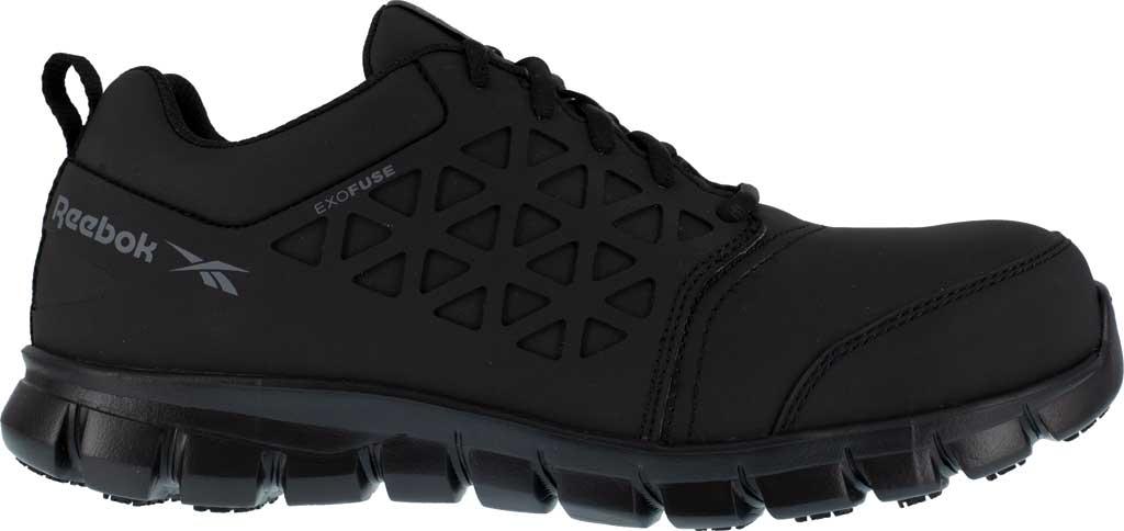Men's Reebok Work RB4051 Sublite Cushion Work Composite Toe Shoe, Black EXOFUSE Water Resistant Microfiber, large, image 2