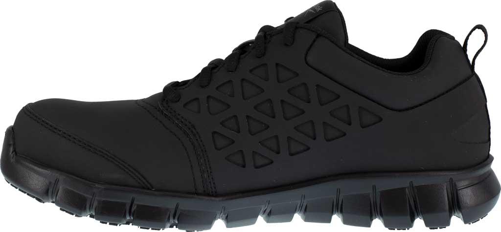Men's Reebok Work RB4051 Sublite Cushion Work Composite Toe Shoe, Black EXOFUSE Water Resistant Microfiber, large, image 3