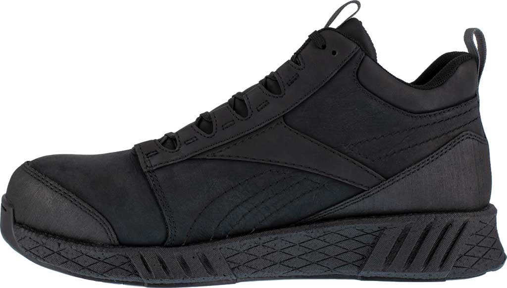 Men's Reebok Work RB4301 Fusion Formidable Work Mid Sneaker, Black/Black Crazyhorse Leather, large, image 3