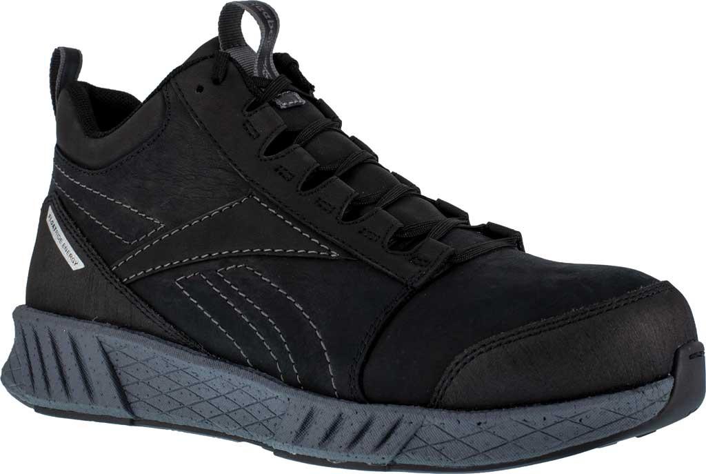 Men's Reebok Work RB4302 Fusion Formidable Work Composite Toe Shoe, Black/Grey Crazyhorse Leather, large, image 1