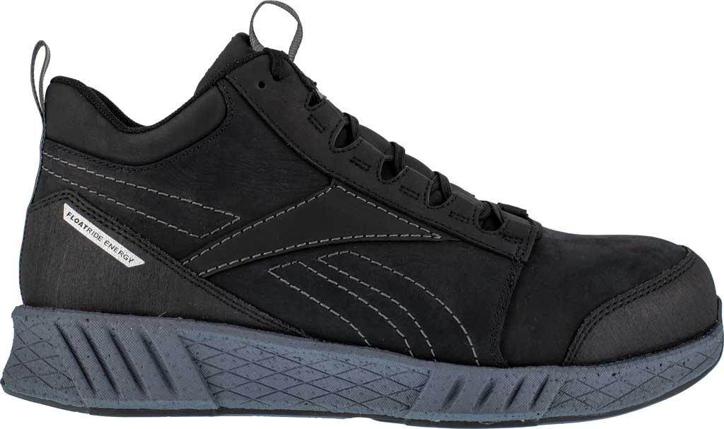 Men's Reebok Work RB4302 Fusion Formidable Work Composite Toe Shoe, Black/Grey Crazyhorse Leather, large, image 2