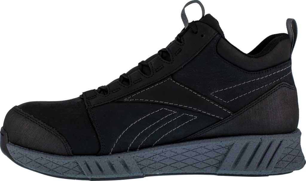 Men's Reebok Work RB4302 Fusion Formidable Work Composite Toe Shoe, Black/Grey Crazyhorse Leather, large, image 3