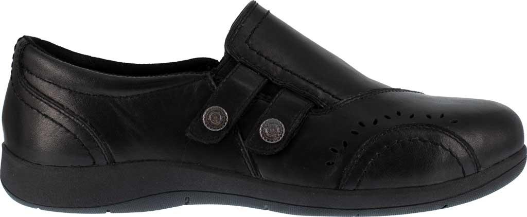 Women's Rockport Works RK761 Daisey Alloy Toe Work Slip On, Black Leather, large, image 2