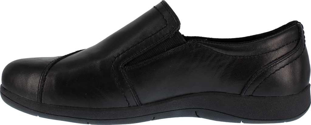 Women's Rockport Works RK761 Daisey Alloy Toe Work Slip On, Black Leather, large, image 3
