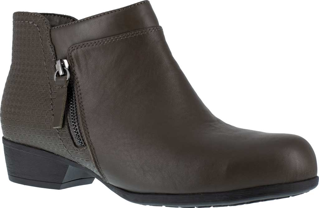 Women's Rockport Works RK753 Carly Alloy Toe Work Boot, Brown Leather, large, image 1