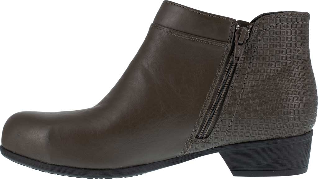 Women's Rockport Works RK753 Carly Alloy Toe Work Boot, Brown Leather, large, image 3