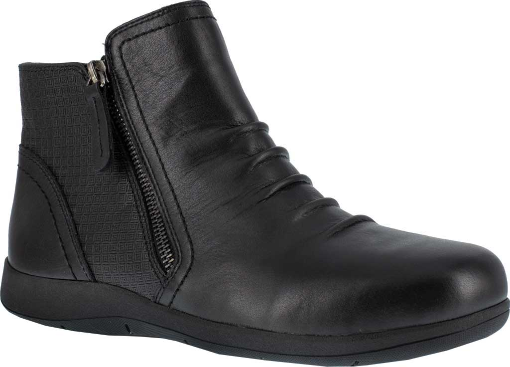 Women's Rockport Works RK762 Daisey Alloy Toe Work Boot, Black Burnished Leather, large, image 1