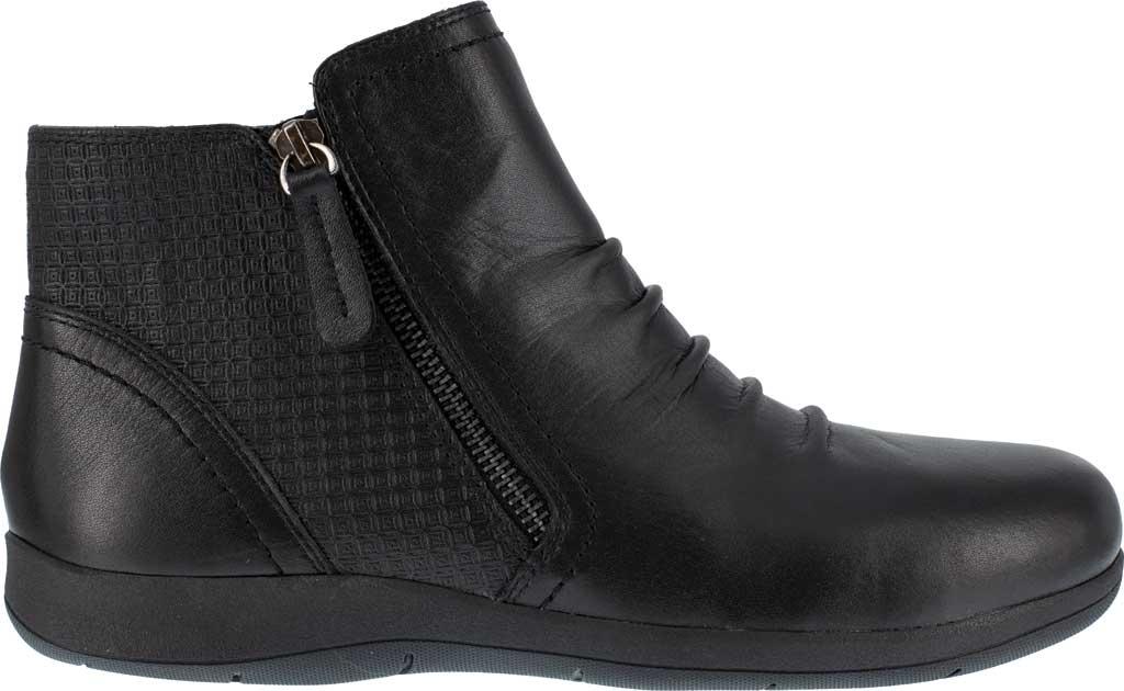 Women's Rockport Works RK762 Daisey Alloy Toe Work Boot, Black Burnished Leather, large, image 2