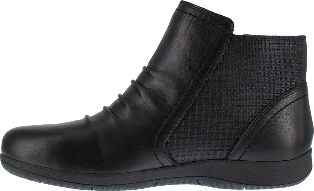 Women's Rockport Works RK762 Daisey Alloy Toe Work Boot, Black Burnished Leather, large, image 3