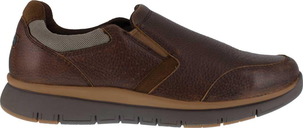 Men's Rockport Works RK5710 Primetime Casuals Work Steel Toe Slip-On, Brown Full Grain Leather, large, image 2