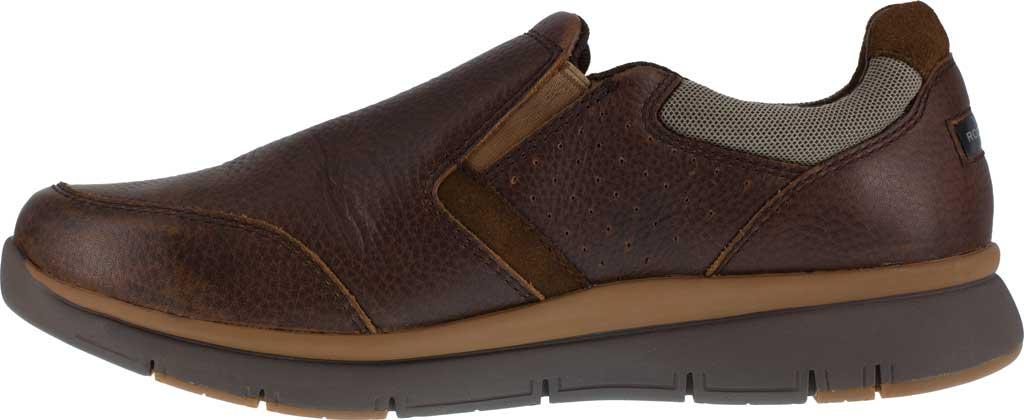Men's Rockport Works RK5710 Primetime Casuals Work Steel Toe Slip-On, Brown Full Grain Leather, large, image 3