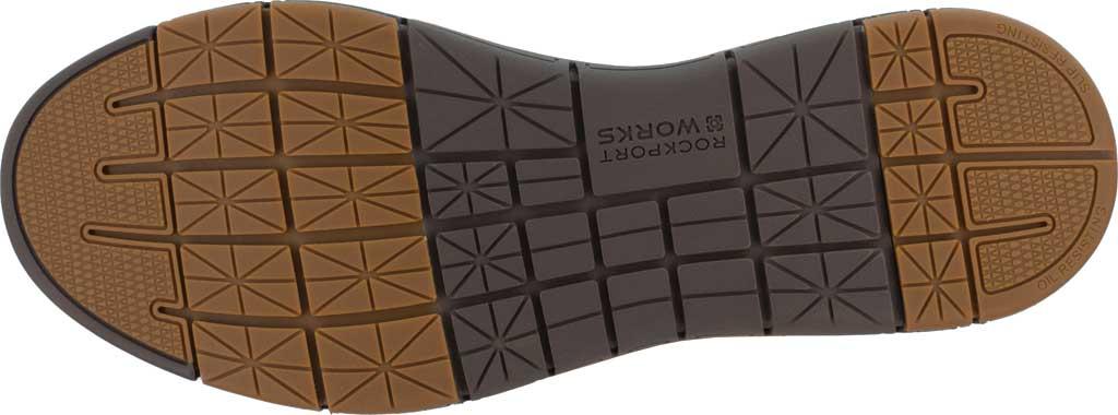 Men's Rockport Works RK5710 Primetime Casuals Work Steel Toe Slip-On, Brown Full Grain Leather, large, image 4