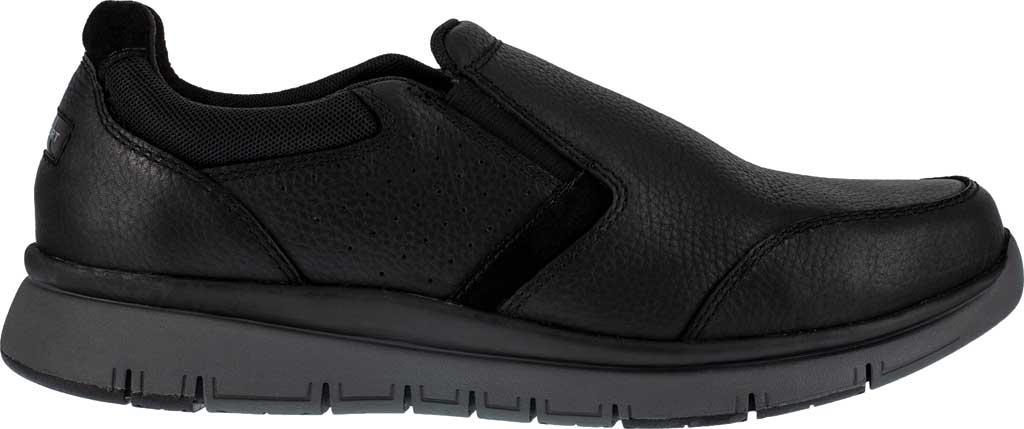 Men's Rockport Works RK5715 Primetime Casuals Work Steel Toe Slip-On, Black Full Grain Leather, large, image 2