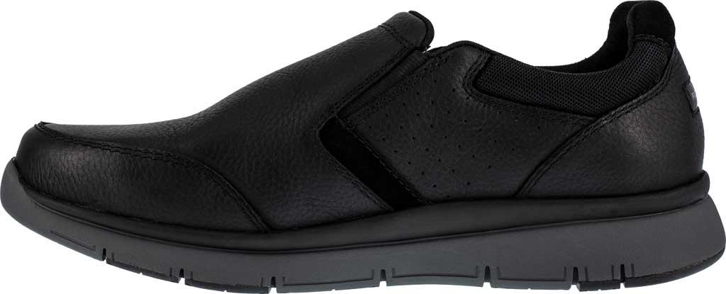 Men's Rockport Works RK5715 Primetime Casuals Work Steel Toe Slip-On, Black Full Grain Leather, large, image 3