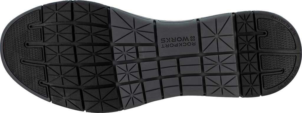 Men's Rockport Works RK5715 Primetime Casuals Work Steel Toe Slip-On, Black Full Grain Leather, large, image 4