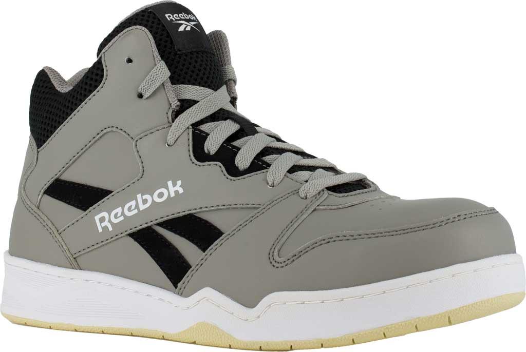 Men's Reebok Work RB4136 BB4500 Composite Toe Work Shoe, Grey/Black Mesh/Leather, large, image 1