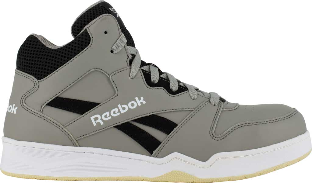 Men's Reebok Work RB4136 BB4500 Composite Toe Work Shoe, Grey/Black Mesh/Leather, large, image 2