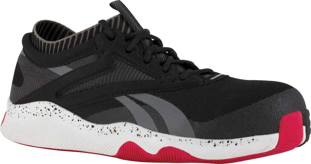 Men's Reebok Work RB4080 HIIT TR Composite Toe Work Shoe, Black/Red Mesh, large, image 1